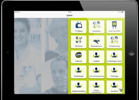 Nieuwsbericht: Via de iPad iets lekkers bestellen in het Westfriesgasthuis
